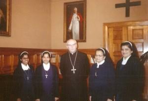Pierwsze misjonarki w Polsce z abp. W.Ziółkiem, metropolitą łódzkim